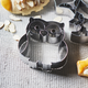 Owl Cookie Cutter with Design Impression