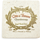 Travertine Chardonnay Wine Label Coaster