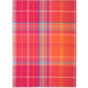 Hot Bright Madras Plaid Kitchen Towel
