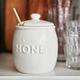 Honey Pot with Wooden Dipper
