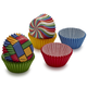 Wilton Primary Print Multi-Colored Mini Bake Cups, 150 Count