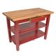 John Boos & Co. Oak Table With Shelves, 48