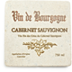Travertine Cabernet Sauvignon Wine Label Coaster
