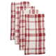 Checkered Linen Napkins, Set of 4