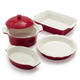 Stoneware 5-Piece Baker Set