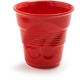 Revol® Cappuccino Crinkle Cup, Red