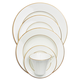Fortessa Taura Gold Bone China 5-Piece Dinnerware Set