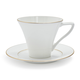 Fortessa Taura Gold Bone China Mug with Saucer