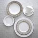 Fortessa Taura Platinum Bone China 5-Piece Dinnerware Set