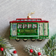 San Francisco Trolley Glass Ornament