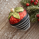 Chocolate Covered Strawberry Glass Ornament