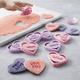 Chicago Metallic Conversation-Heart Cookie Cutters, Set of 8