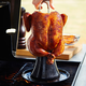 Sur La Table Pro Ceramic Chicken Roaster with Poultry Puller