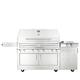Kalamazoo Hybrid Fire Freestanding 4-Burner Grill with Side Burner Cabinet