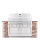 Kalamazoo Hybrid Fire Built-in 4-Burner Grill