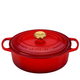 Le Creuset Cerise Oval French Oven with Gold Knob