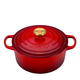 Le Creuset Cerise Round Dutch Oven with Gold Knob