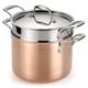 Lagostina Martellata Hammered Copper 6-qt. Pasta Pot with Insert