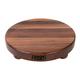 John Boos Edge-Grain Walnut Round Cutting Board with Feet, 12