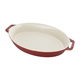Staub Rustic Ceramic Oval Bakers, Red