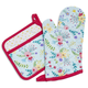 Bloom Oven Mitt and Pot Holder Set