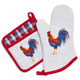 Rooster Oven Mitt and Pot Holder Set