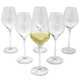 Crystal Mouth-Blown White Wine Glasses, Set of 6