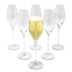 Crystal Mouth-Blown Champagne Glasses, Set of 6