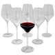 Crystal Mouth-Blown Red Wine Glasses, Set of 6
