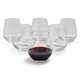 Crystal Mouth-Blown Stemless Wine Glasses, Set of 6