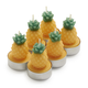 Pineapple Tealight Candles, Set of 6