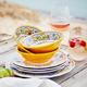 Floreale 12-Piece Melamine Dinnerware Set with 4 Bonus Appetizer Plates