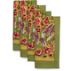 French-Designed Jardin Napkins, Set of 4