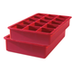 Red Perfect Cube Ice Tray, Set of 2