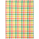 Citrus Small-Check Kitchen Towel
