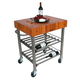 John Boos & Co. Cherry Cucina D'Amico Wine Cart
