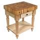 John Boos & Co. Cucina Rustica Table With Shelf, 30