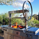 Kalamazoo Gaucho Freestanding Grill with Side Burner