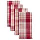 Plaid Red Napkins, Set of 4
