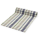 Plaid White & Blue Table Runner, 108