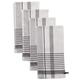 Striped Napkins with Fringe, Set of 4