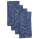 Blue Oakwood Jacquard Napkins, Set of 4