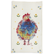 Jacques Pépin Collection Multi Chickens Linen Kitchen Towel, 28