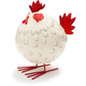 Decorative White Rooster