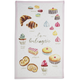 French Desserts Kitchen Towel, 28
