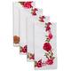 Garden Floral Red Napkins, Set of 4