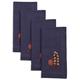Embroidered Floral Blue Napkins, Set of 4