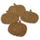 Beaded Pumpkin Coasters, Set of 4