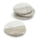 Two-Tone Marble Coasters, Set of 4