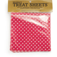Dotted Pink Treat Sheets, Set of 24